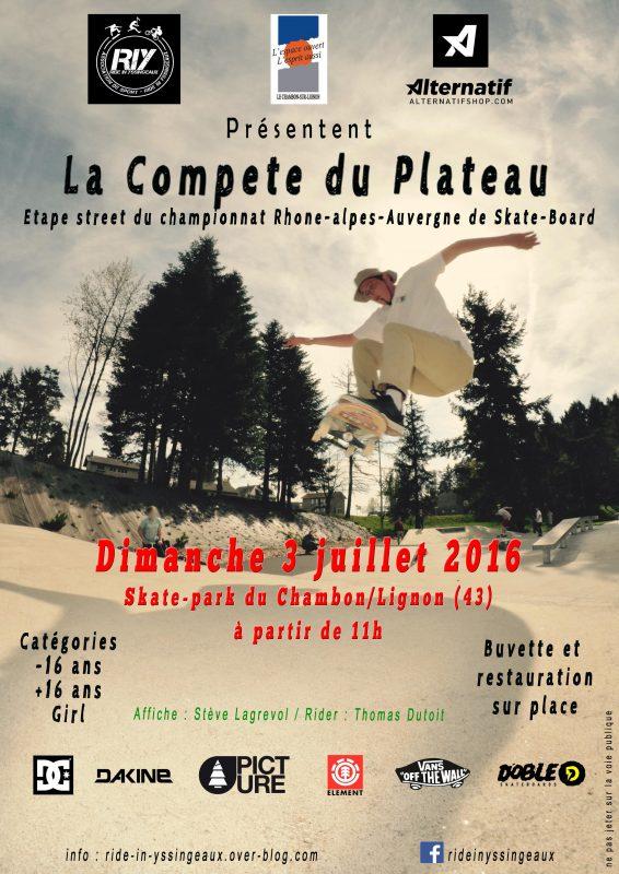 affiche officielle Etape CRRAS Chambon sur Lignon Ride in Yssingneaux