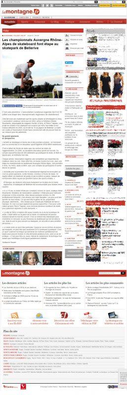 Article de Guillaume Sauzer pour lamontagne.fr sur l'étape du CRRAS 2016 à Vichy